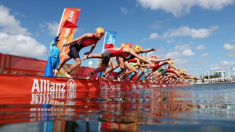 Women's Triathlon was the first medal event of Gold Coast 2018
