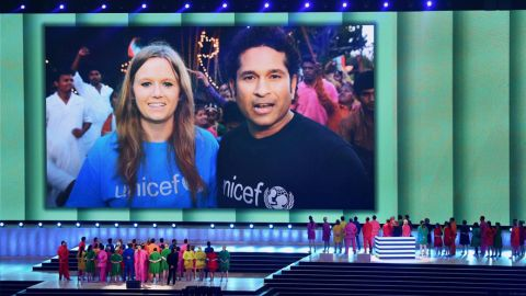 UNICEF ambassador and Indian cricket superstar Sachin Tendulkar invites global viewers of the Glasgow 2014 Opening Ceremony to Put Children First