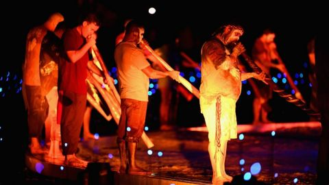 The Four Winds Didgeridoo Orchestra at the Gold Coast 2018 Opening Ceremony