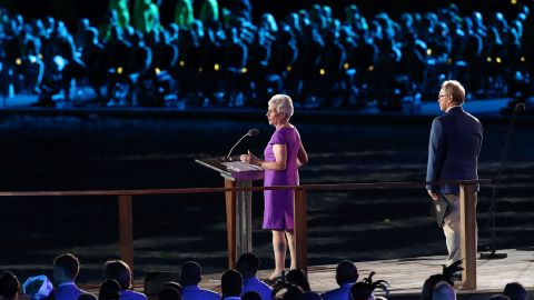 CGF President at Louise Martin CBE at the Opening Ceremony of the Gold Coast 2018 Commonwealth Games