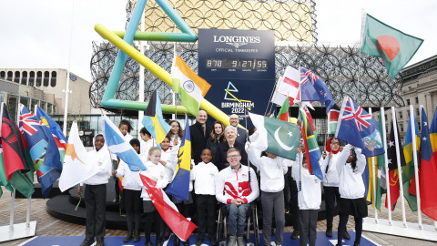 Launch of the Birmingham 2022 Longines Countdown Clock in March 2020