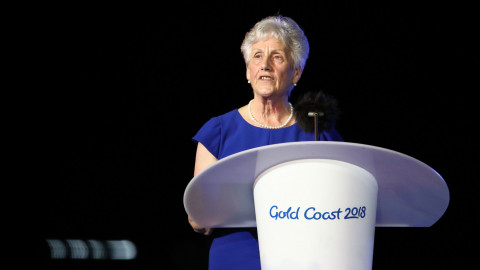 Dame Louise Martin at the Gold Coast 2018 Opening Ceremony