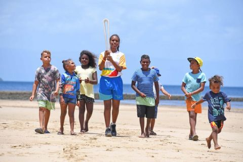 The Gold Coast 2018 Queen's Baton Relay travels to Palm Island