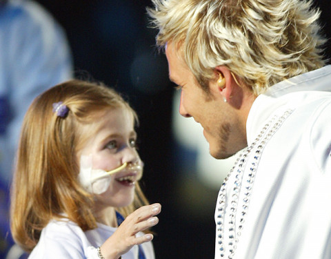 David Beckham with Kirsty Howard - Manchester 2002